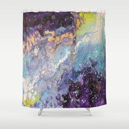 """Light's Travel"" Shower Curtain"