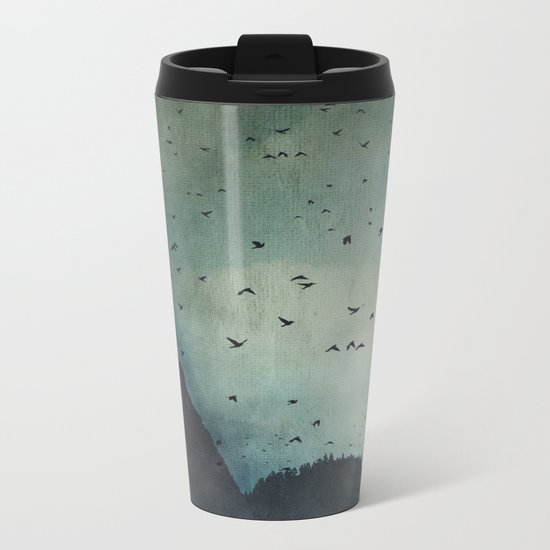 exodus -  a sky full of birds Metal Travel Mug