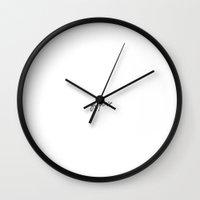 logo Wall Clocks featuring logo by gasponce