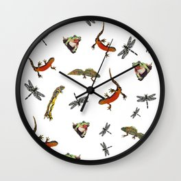 Let's go to the pond Wall Clock