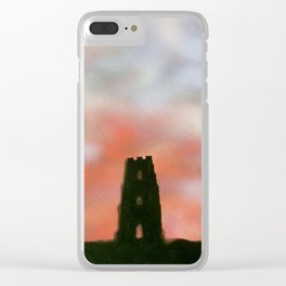 Sunset Over the Tor Clear iPhone Case