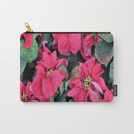 Poinsettias and Glitter Carry-All Pouch