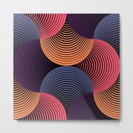 Geometric Swirls Metal Print