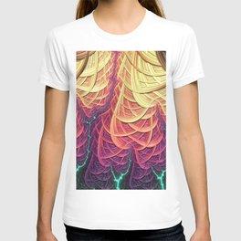 Fractal Lightening - Geometric Pattern - Manafold Art T-shirt