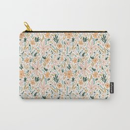 Peachy Keen Flowers Carry-All Pouch