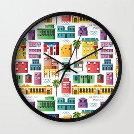 La Perla, San Juan (Puerto Rico) pattern Wall Clock