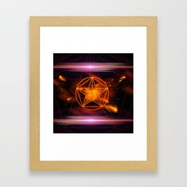 Pentagram Framed Art Print