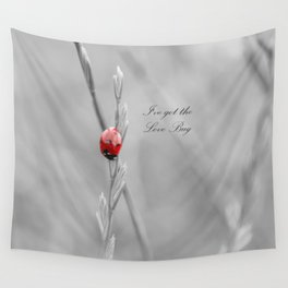 black and white lady bug Wall Tapestry