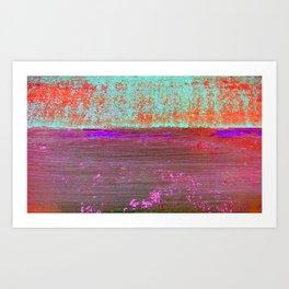Purple Sea Art Print