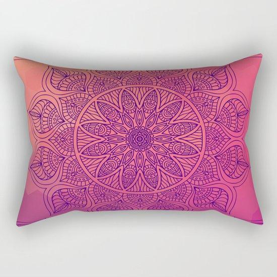 Happy Mandala Rectangular Pillow