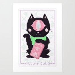 Lucky Cat (2.0) Art Print