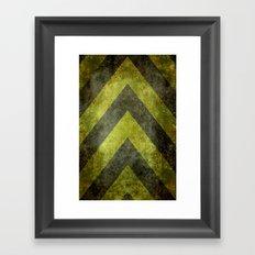 Warning Chevron #101 Framed Art Print