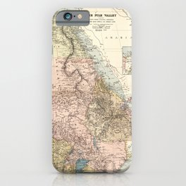 The Nile River Valley Map (1910) iPhone Case
