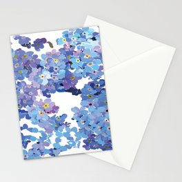 Periwinkle Flowers-Floral Design-Style 3-by Hxlxynxchxle Stationery Cards