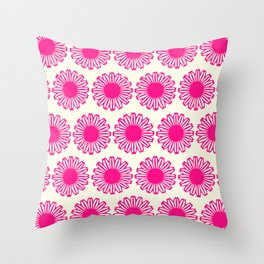 vintage flowers pink  Throw Pillow