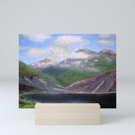 Isle of Rhum, original artwork, oils on board Mini Art Print