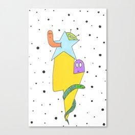 Lightning friends Canvas Print