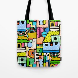 Color Block Collage Tote Bag