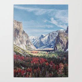 Tunnel View Yosemite Valley Poster