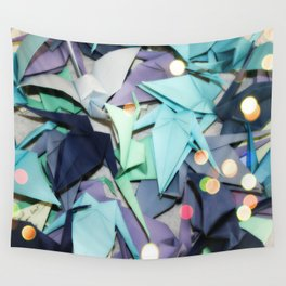 Senbazuru | shades of blue Wall Tapestry