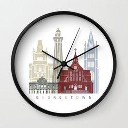 Georgetown skyline poster Wall Clock