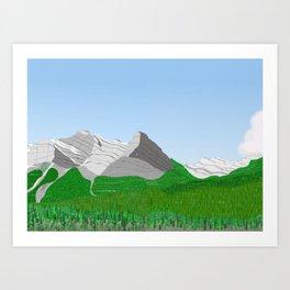 Ha Ling Peak Art Print