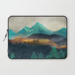 Green Wild Mountainside Laptop Sleeve