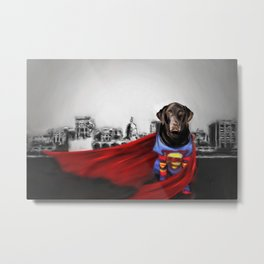 Dog of Steel in the City of Madison Metal Print