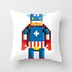 Pixelman America Throw Pillow
