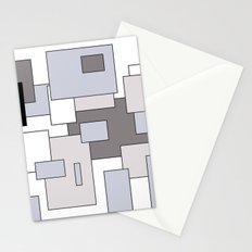Squares - gray, black and white. Stationery Cards