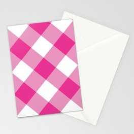 Gingham - Pink Stationery Cards