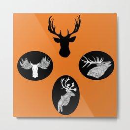 'Endearing' Moose, Elk, and Deer pattern Metal Print