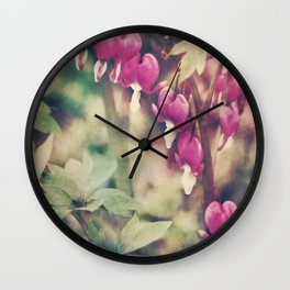 Dancing Bleeding Hearts Wall Clock
