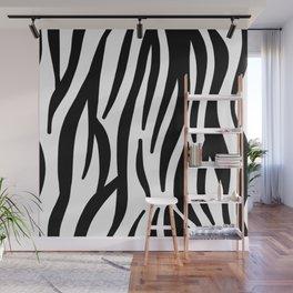 abstract modern safari animal black and white zebra print Wall Mural