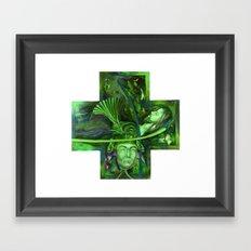 Religion green Framed Art Print