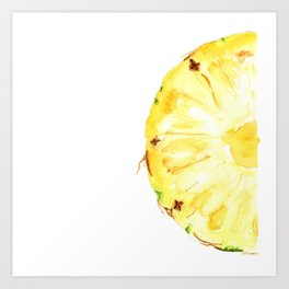 Tutti Frutti. Pineapple Art Print