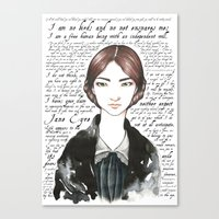 jane eyre Canvas Prints featuring Jane Eyre by Makissima