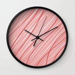 Peppermint Stripes Red and White - Digital Painting Wall Clock