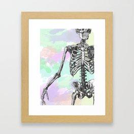 Groove Skeleton Framed Art Print