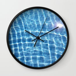 Dive in and Relax Wall Clock