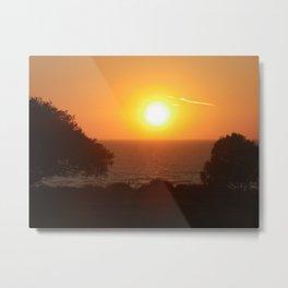 Sunset in Norfolk UK Metal Print