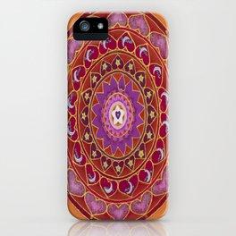 Joy Mandala iPhone Case