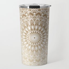 Gold Mandala 20 Travel Mug