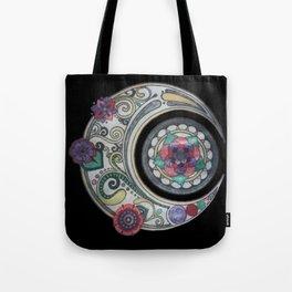 Spiral floral moon Tote Bag