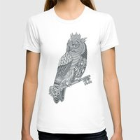 king T-shirts featuring Owl King by Rachel Caldwell