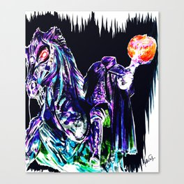The Headless Horseman of Sleepy Hollow Canvas Print