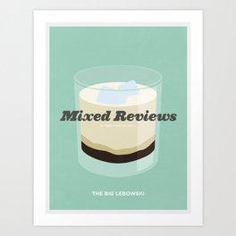 Mixed Reviews - The Big Lebowski Art Print