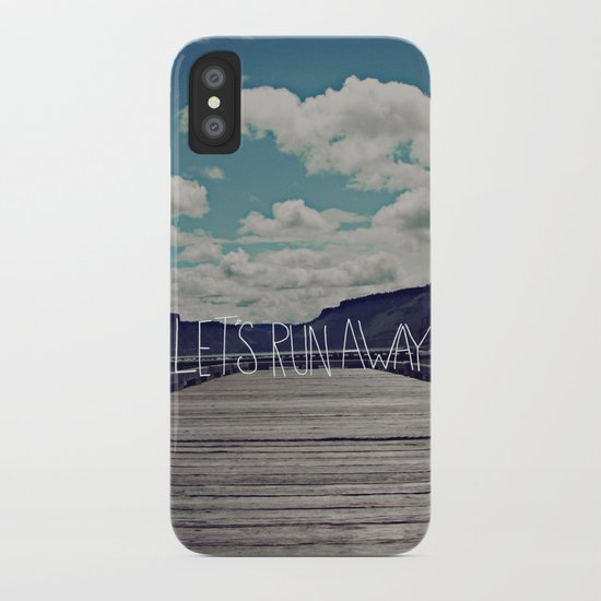 Let's Run Away: Detroit Lake, Oregon iPhone Case