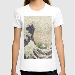 The Great Wave Of Honeydew Melon After Hokusai T-shirt