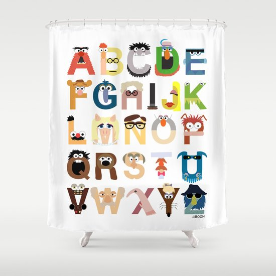 Muppet Alphabet Shower Curtain